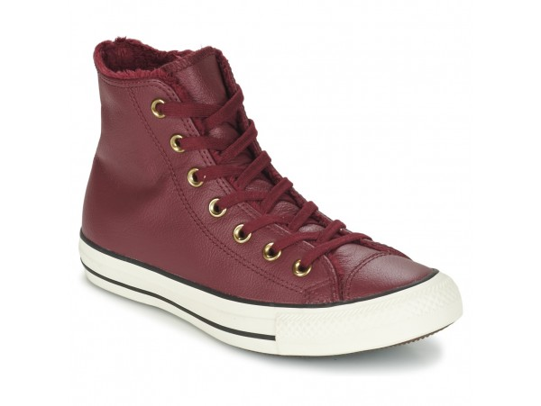 Kvinder Converse CHUCK TAYLOR ALL STAR CUIR/FUR HI BORDEAUX / Sort - Gratis fragt hos Sko Høje sneakers Dame 69900 CHUCK TAYLOR ALL STAR CUIR/FUR HI BORDEAUX Sort AwHxoBk7